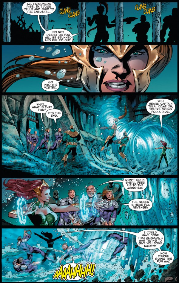 how aquaman dealt with atlantean rebels