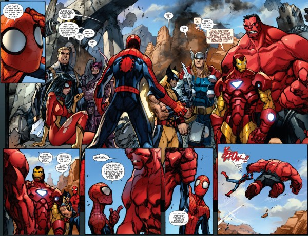 how red hulk gave spider-man a lift