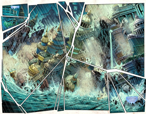 king atlan sinks atlantis