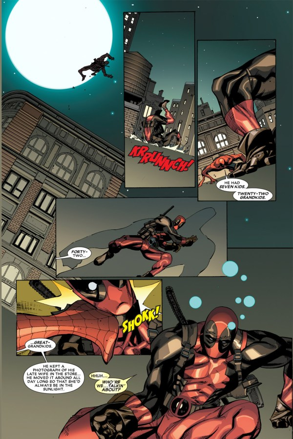 spider-man attacks deadpool