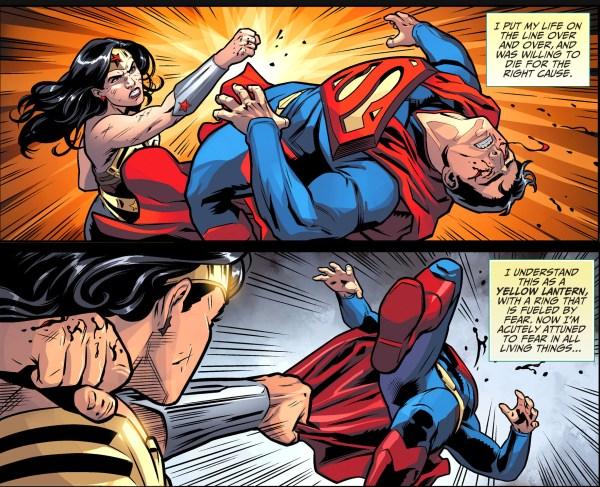 wonder woman beats superman (injustice gods among us)