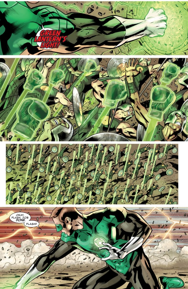 hal jordan's hundred boxing gloves attack