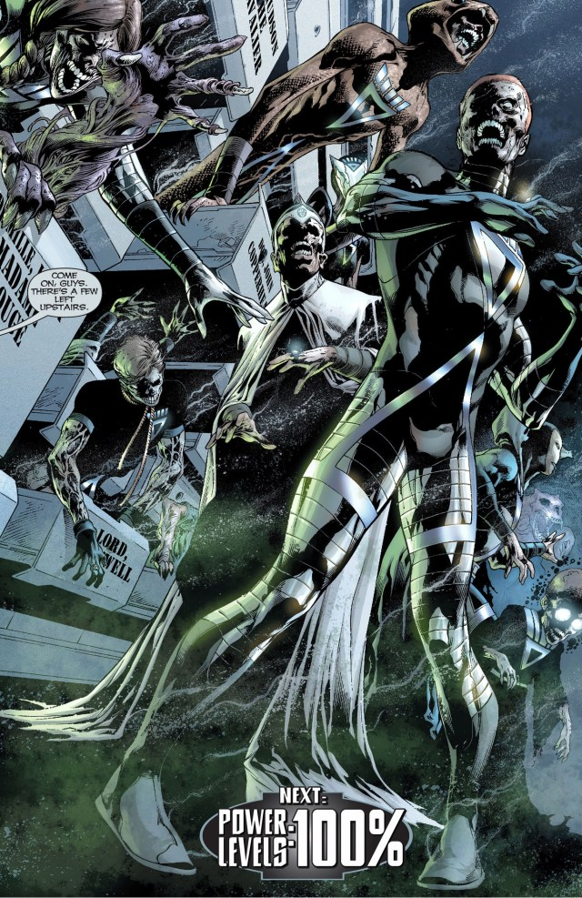 Black Lanterns Alexander Luthor, Doctor Light And Maxwell Lord