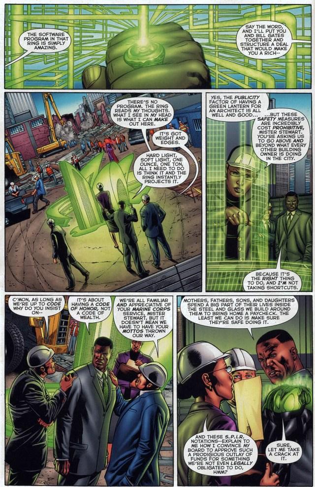 green lantern as an architect