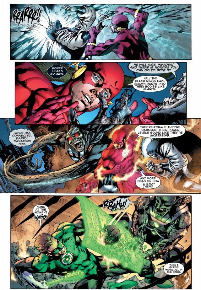 green lantern, the atom and the flash vs black lantern justice league 3