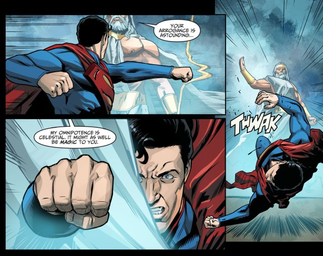 superman vs zeus (injustice gods among us)