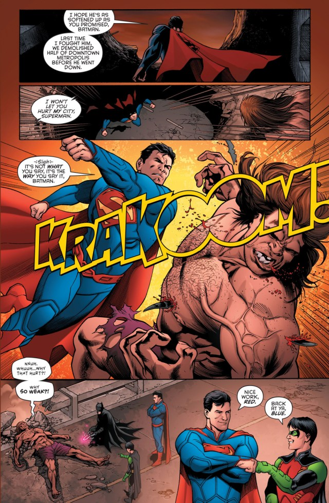 batman and robin sets a trap for blockbuster