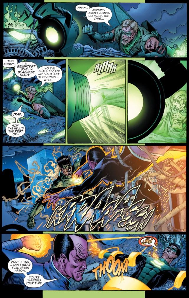 green arrow uses a green lantern ring