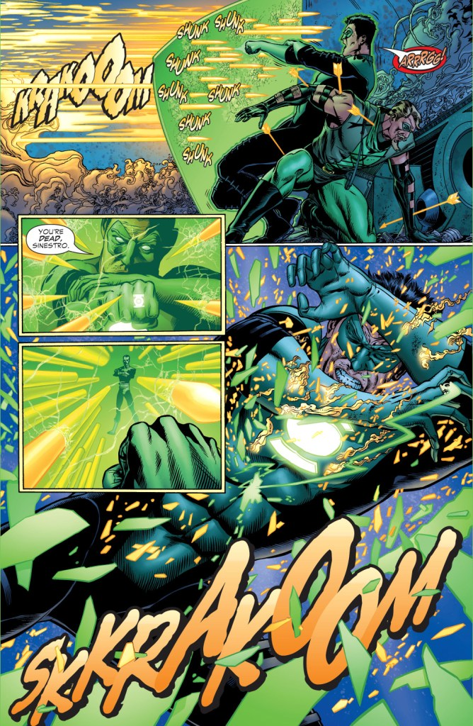 sinestro vs green lantern and green arrow