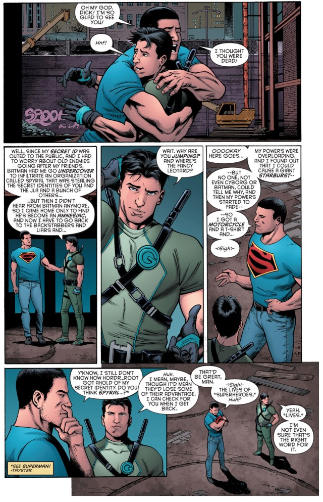 superman learns dick grayson is still alive