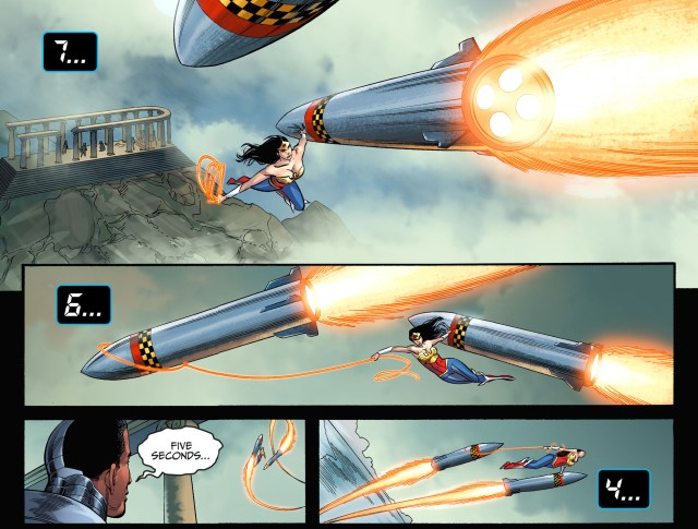 wonder woman vs 2 nuclear missiles 2