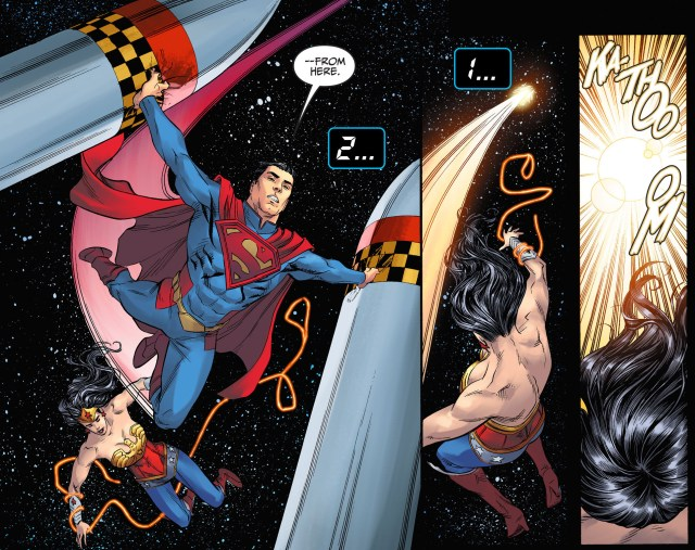 wonder woman vs 2 nuclear missiles