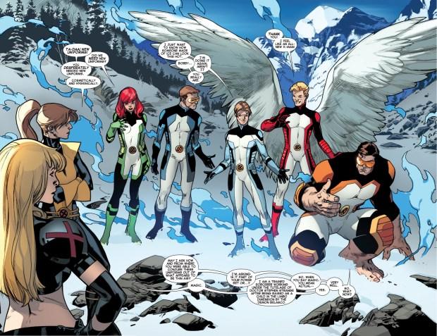 the original 5 x-men's new costumes