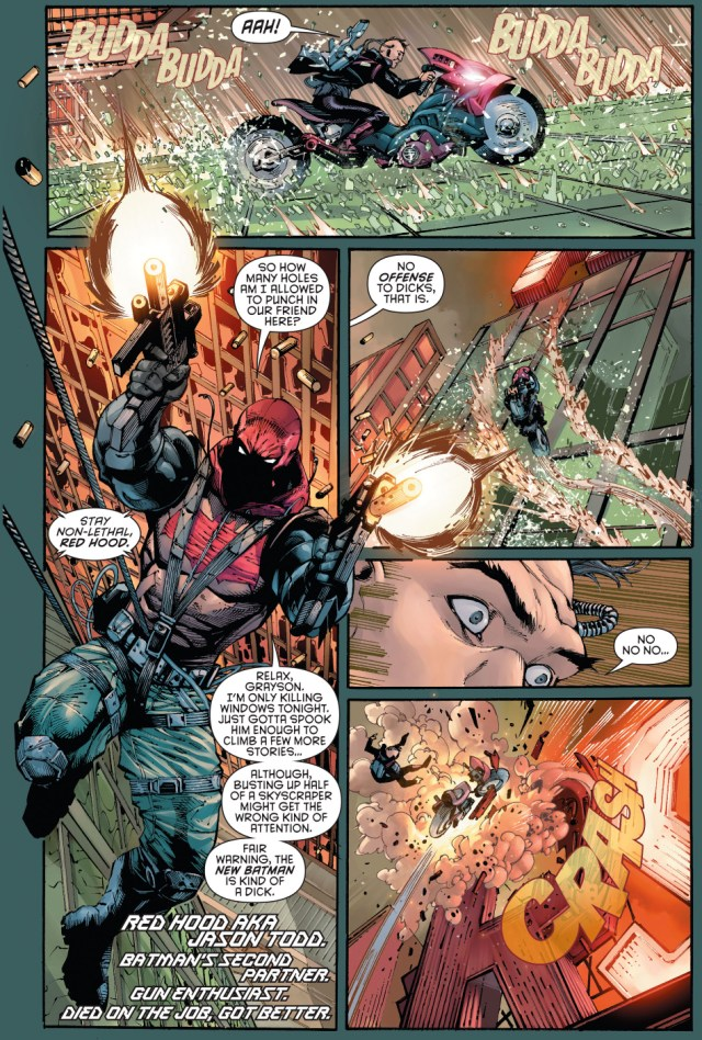 agent 37, red hood and red robin working together