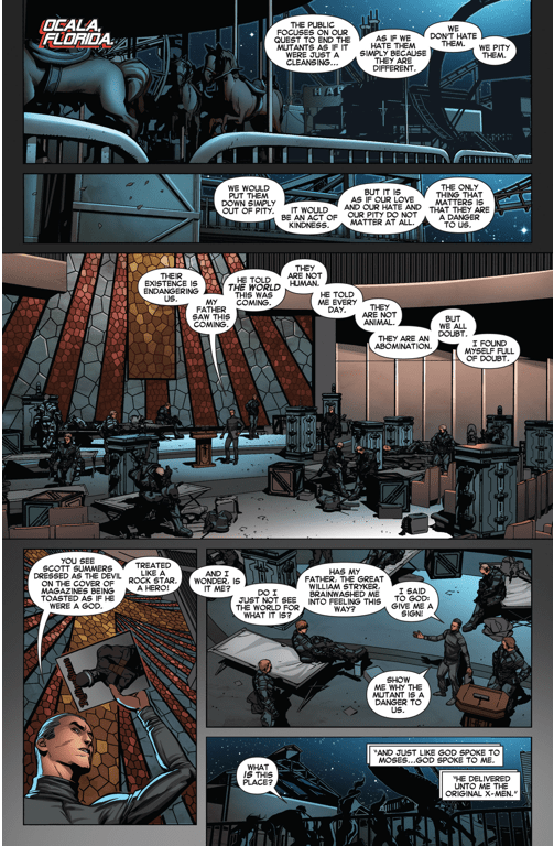 Original 5 X-men Attacks The Purifier Base