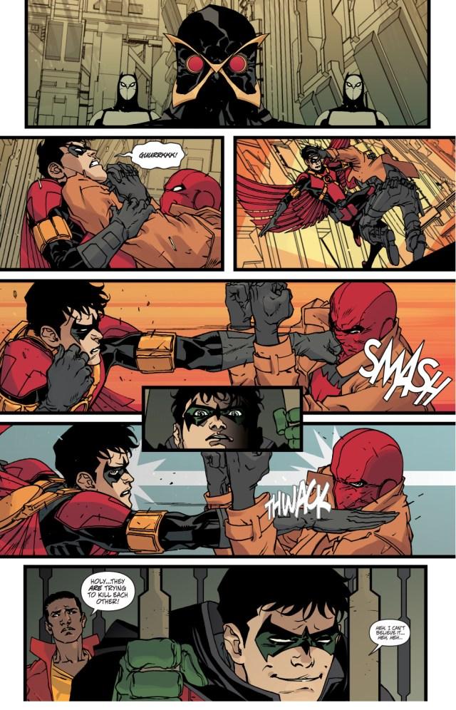 red hood vs red robin (robin war)