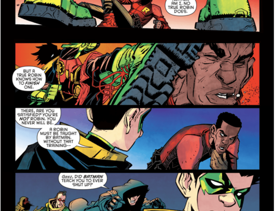robin (damian wayne) confronts we are robin