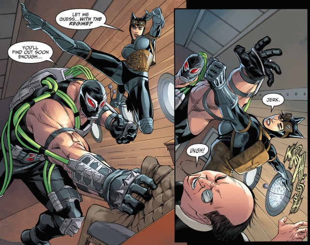 catwoman vs bane and killer frost (injustice gods among us)
