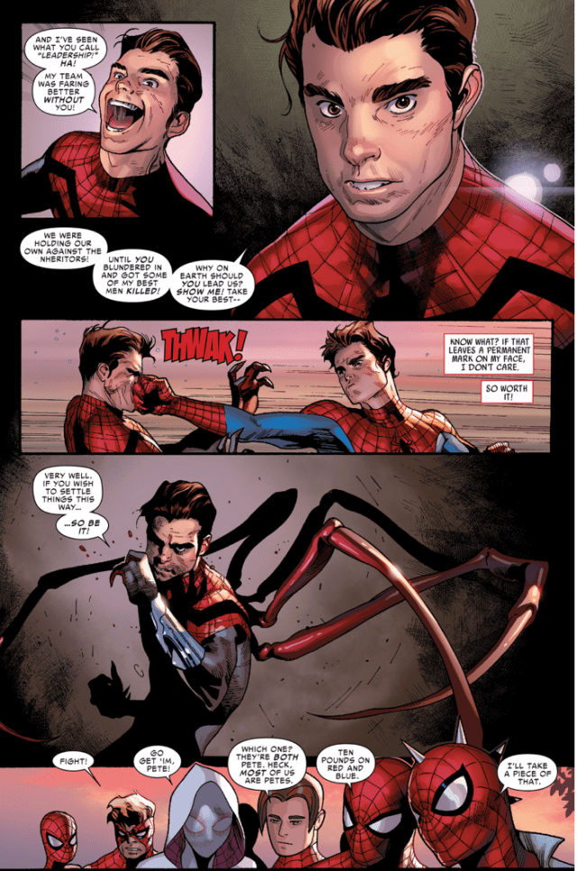 spider-man vs superior spider-man (Spiderverse)