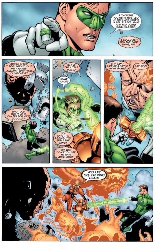 green lantern and larfleeze vs hector hammond