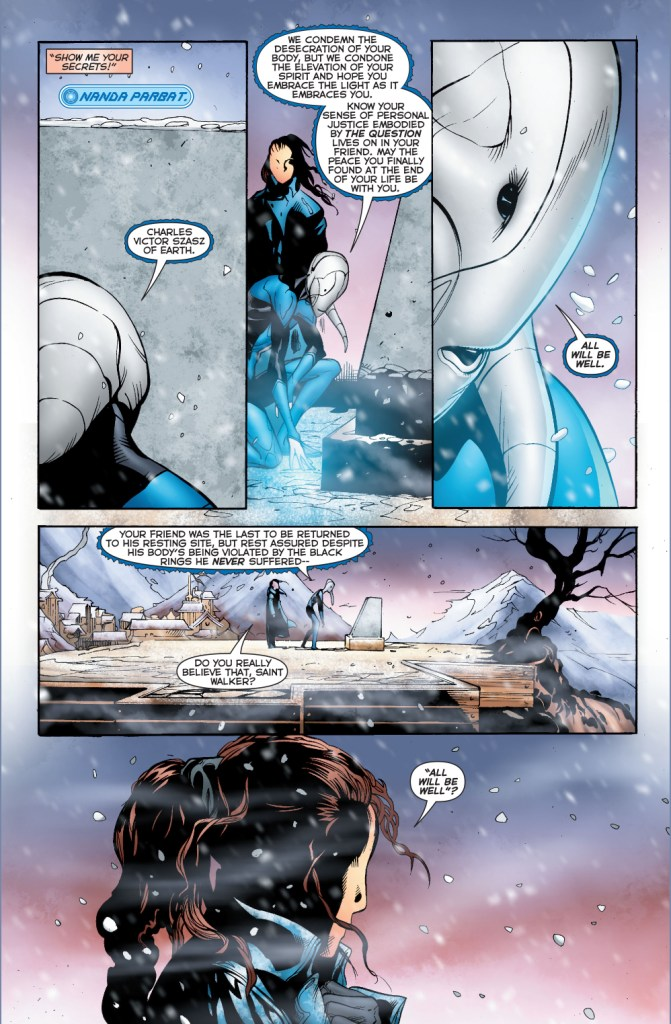 saint walker comforts the question