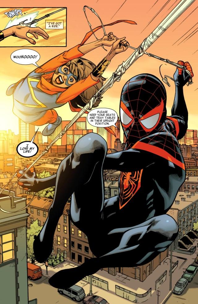 spider-man (miles morales) and miss marvel (kamala khan)