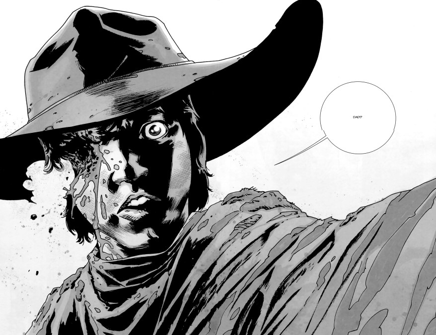 carl grimes is shot in the head