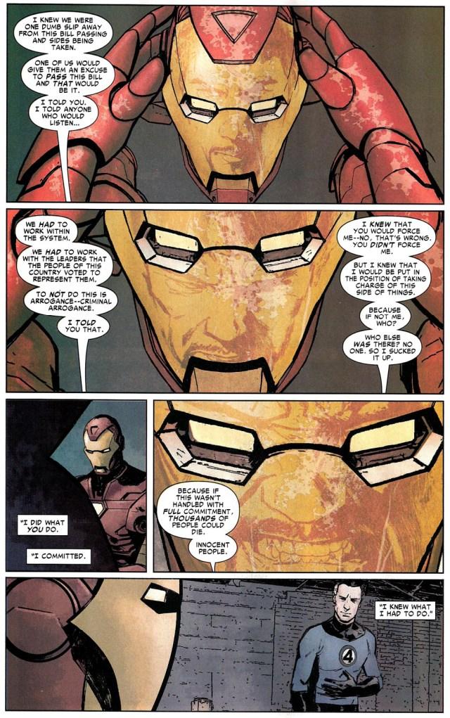 iron man mourns captain america (civil war)