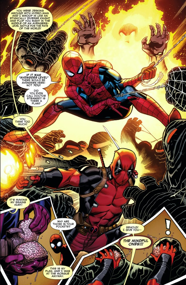 spider-man and deadpool vs mindless ones