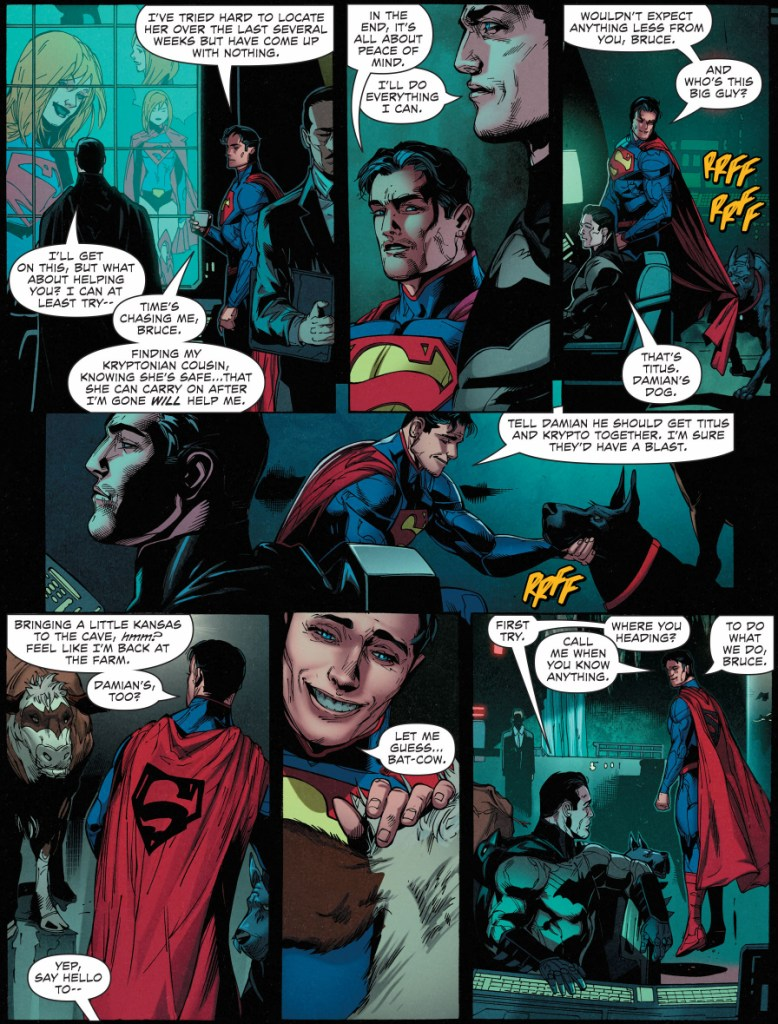 superman meets titus and batcow