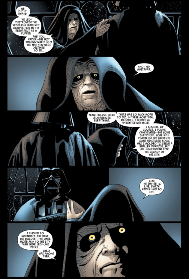 Palpatine Explains Why He Tried To Replace Darth Vader