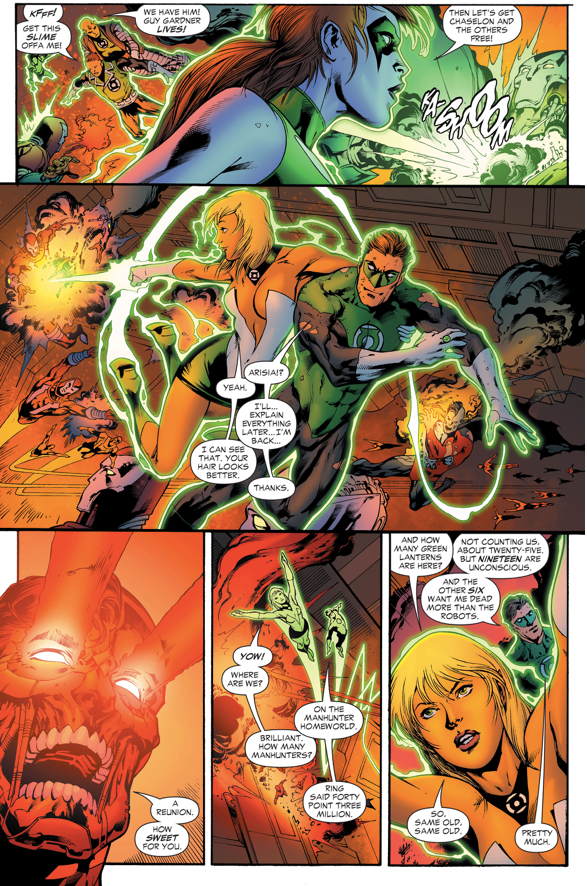 Green Lantern Hal Jordan And Arisia VS Cyborg-Superman