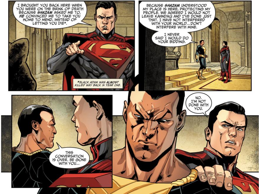 Superman VS Black Adam (Injustice Gods Among Us)