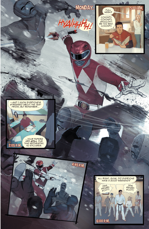 A Week In The Life Of The Red Ranger
