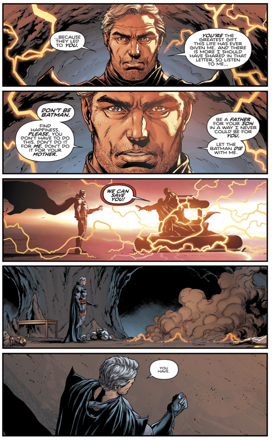 Flashpoint Batman's Final Words To His Son Bruce Wayne