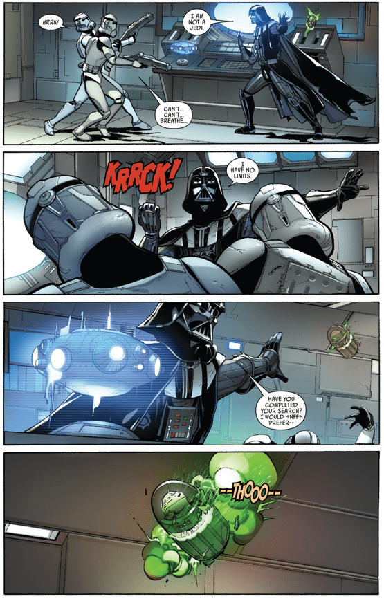 Darth Vader Prevents A Grenade From Exploding