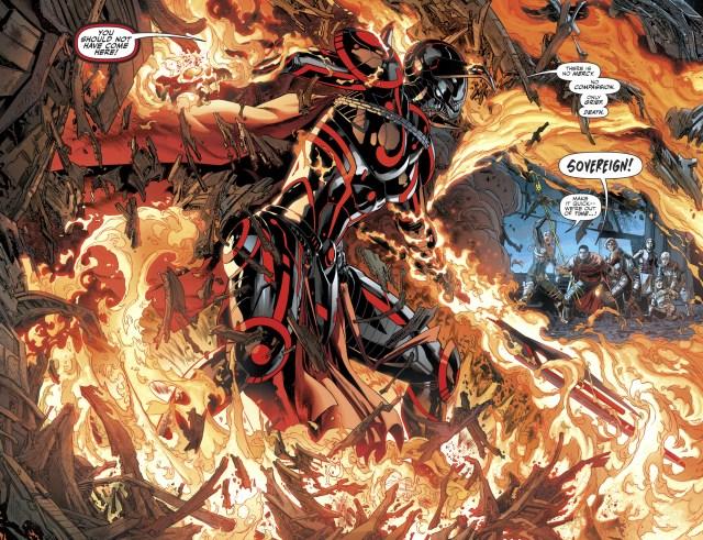 Sovereign VS The Justice League's Children