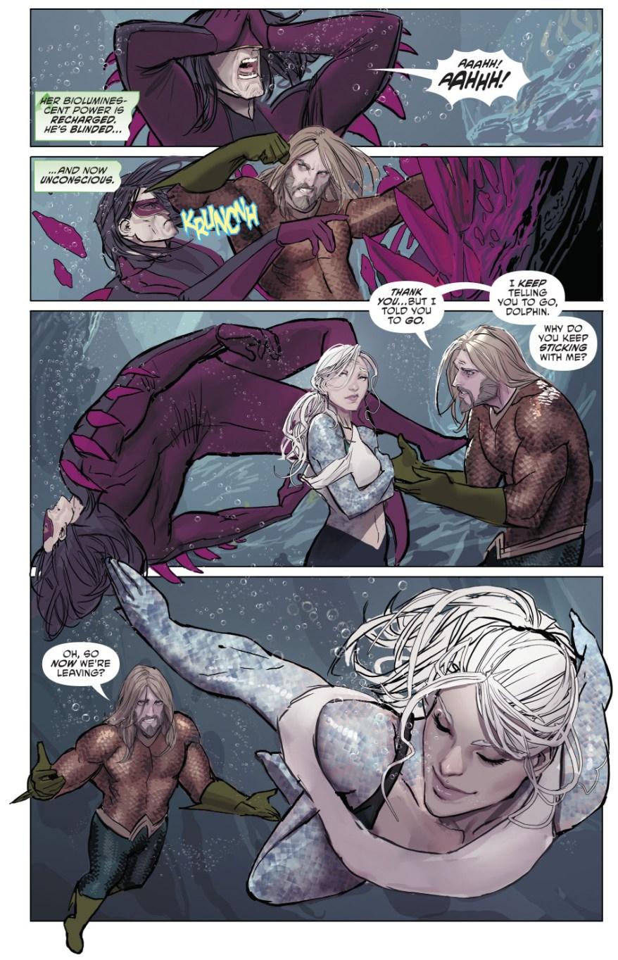 Aquaman And Dolphin VS Kadaver