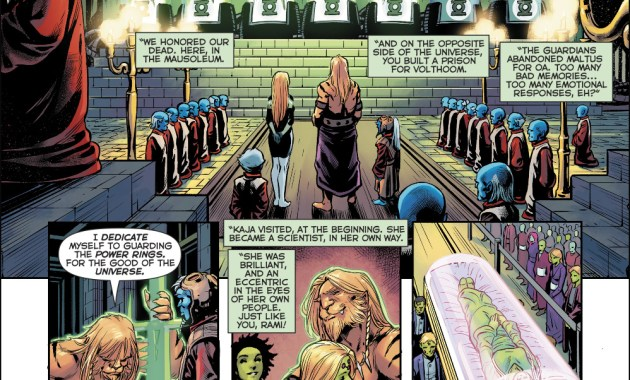 The Guardians Honor The First 7 Green Lanterns