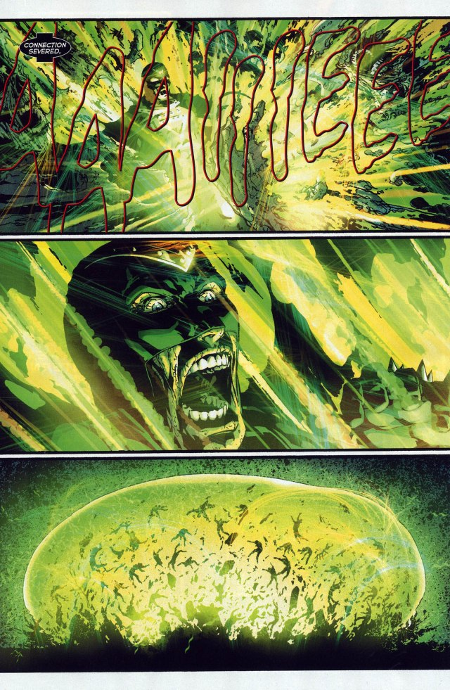 Hal Jordan And Sinestro VS Black Lantern Zombies