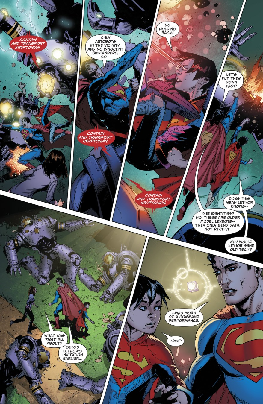Superman And Superboy VS Lexbots