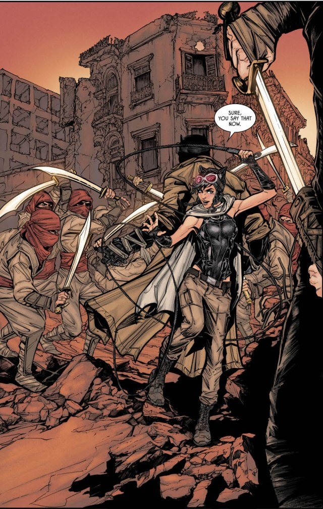 Batman And Catwoman VS Silent Soldiers of the Pit