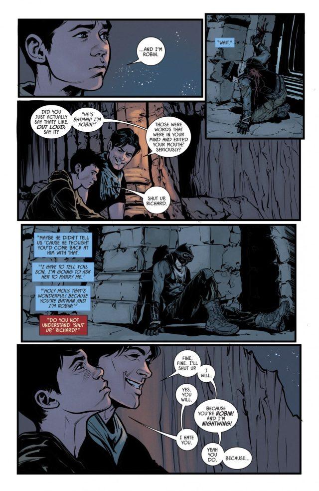 Dick Grayson Teasing Damian Wayne (Rebirth)