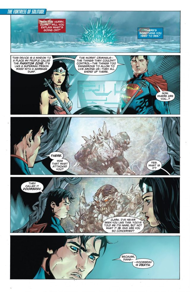 Superman Explains Doomsday To Wonder Woman (New 52)