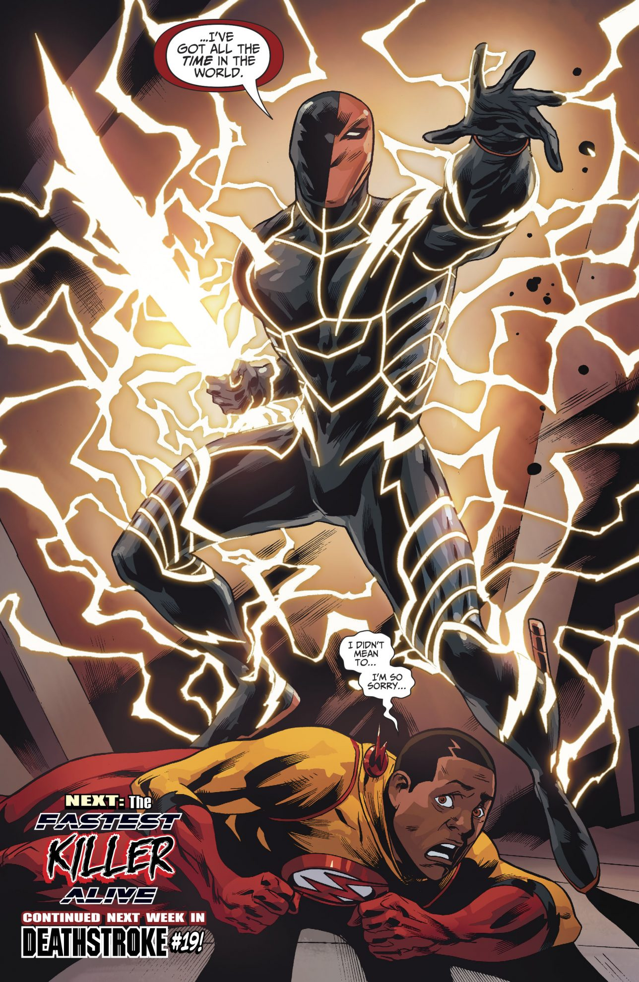 Deathstroke With The Speed Force S Power Comicnewbies