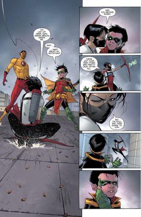 Red Arrow Kisses Robin (Rebirth)
