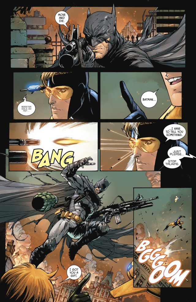 Dick Grayson As A Batman With Guns