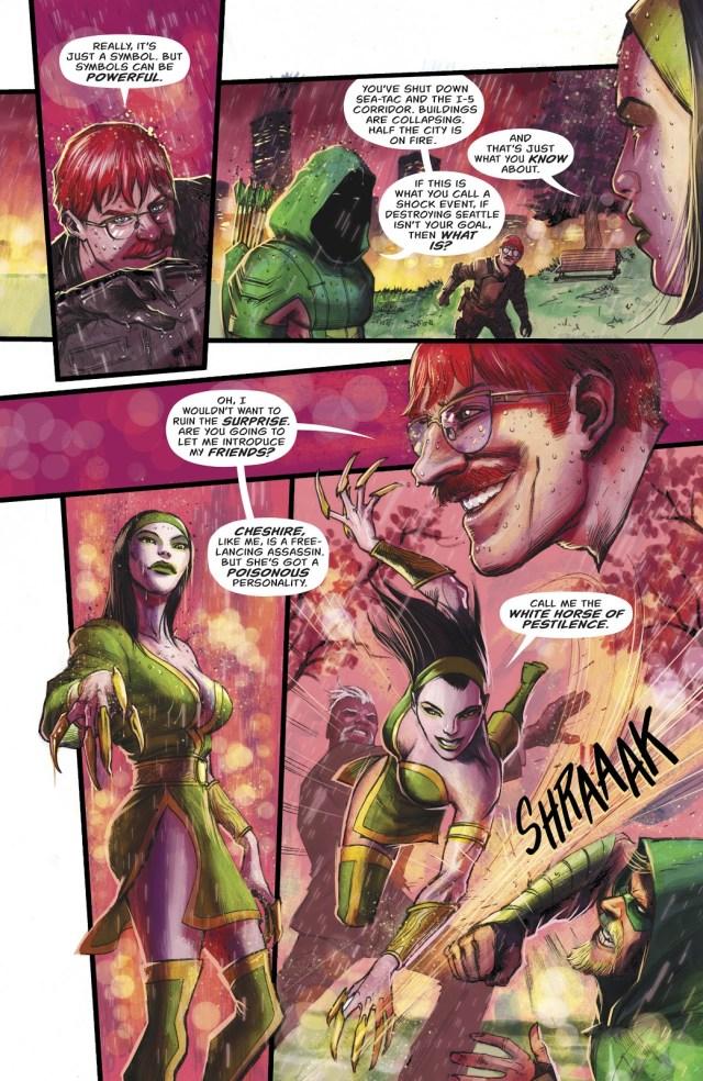 Green Arrow VS The 3 Horsemen