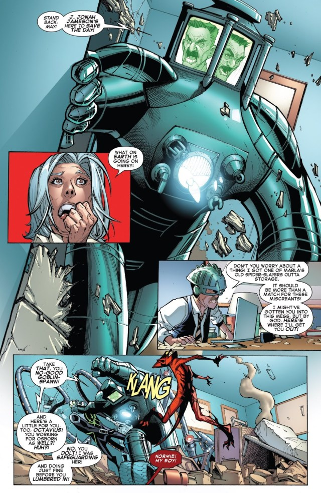 Doctor Octopus Protecting Aunt May