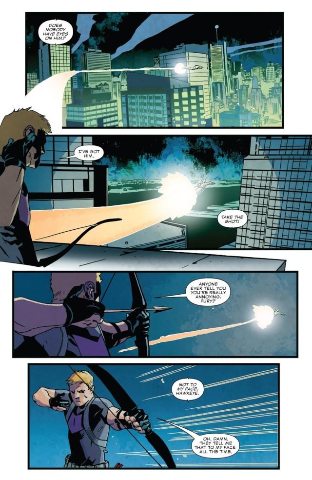 Hawkeye Pisses Off War Machine Punisher
